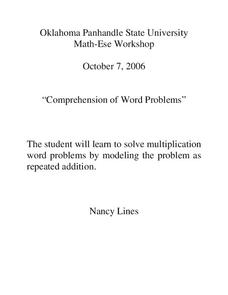 Comprehension of Word Problems Lesson Plan