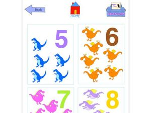 5-8 Number Flashcards Worksheet