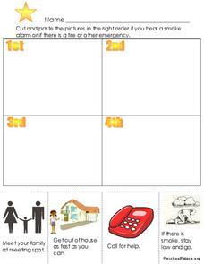 Fire Safety Steps Worksheet
