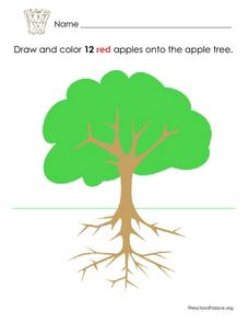 12 Red Apples: Numbers and Colors Lesson Plan