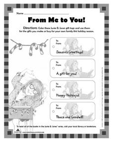 From Me to You! Worksheet