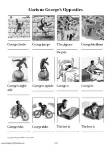 Curious George's Opposites Worksheet