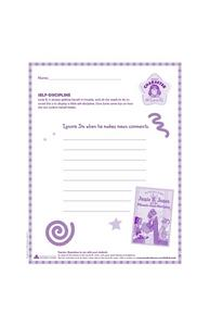 Junie B. Jones: Self-Discipline Worksheet