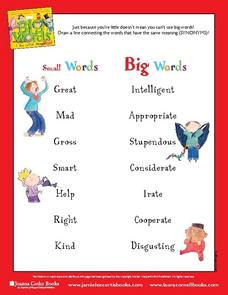 Big Words for Little People Worksheet