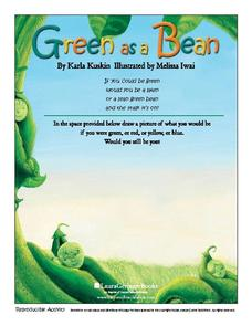 Green As A Bean - Illustrating a Poem Worksheet