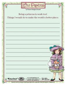 Making the World a Better Place - A Little Princess Writing Prompt