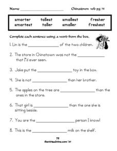 Superlative Adjective Practice Worksheet