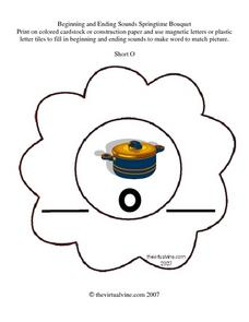 Letter Practice: Short O Worksheet