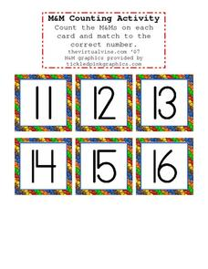 M&M Counting Activity Worksheet