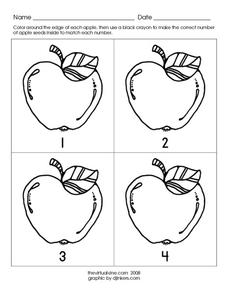 Apple Seeds Worksheet