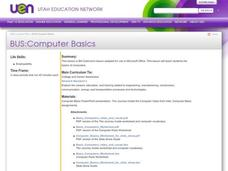 Computer Basics Lesson Plan