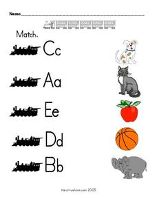 Picture - Beginning Letter Matching Worksheet