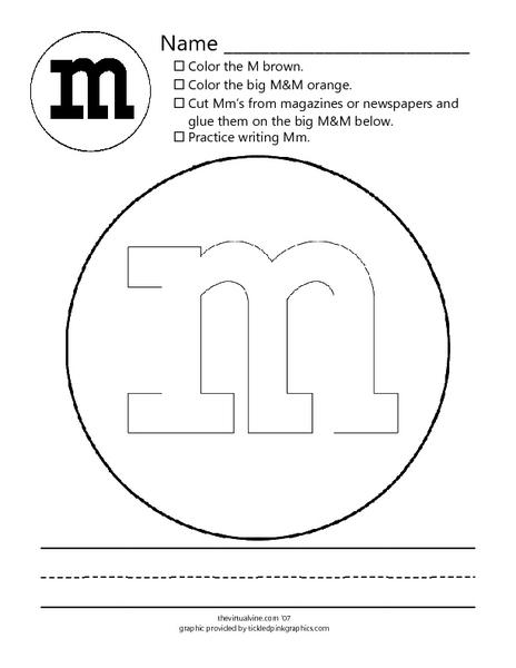 letter mm m m worksheet for kindergarten 1st grade lesson planet. Black Bedroom Furniture Sets. Home Design Ideas