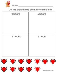 Counting and Number Identification - Valentine's Day Theme Lesson Plan