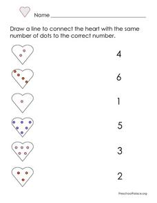 Counting and Number Identification 1-5  Valentine's Day Theme Lesson Plan