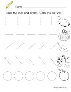 Tracing Practice: Lines and Circles Lesson Plan