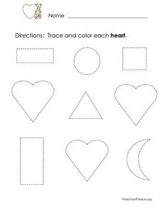 Trace and Color Hearts Lesson Plan