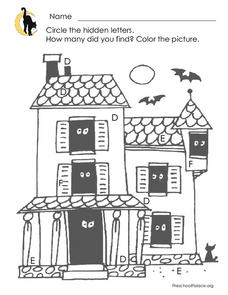 Halloween Hidden Letters Worksheet