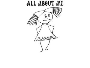 All About Me Coloring Sheet Worksheet