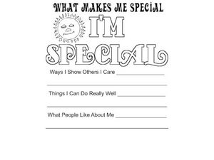 What Makes Me Special Worksheet for Pre-K - 1st Grade ...