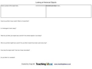 Look At Historical Objects Worksheet
