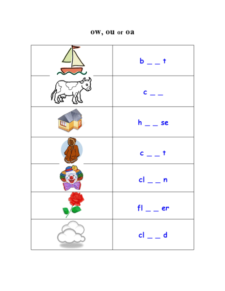 Ou Ow Sound Lesson Plans Worksheets Reviewed By Teachers