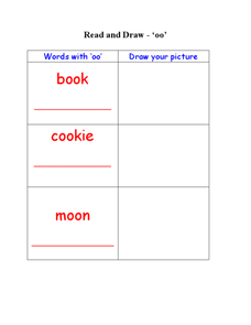 Words With 'oo':  Read and Draw Worksheet