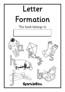 Letter Formation Booklet Worksheet
