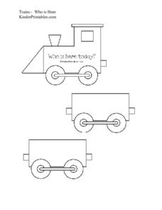 Trains: Who is Here Today? Worksheet
