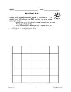 Boardwalk Fun Worksheet