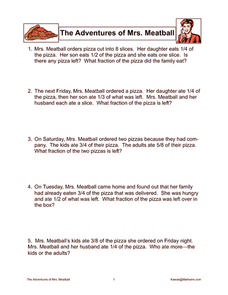 The Adventures of Mrs. Meatball Worksheet
