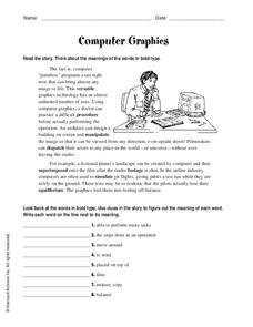 Computer Graphics Worksheet