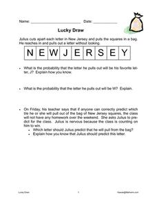 Lucky Draw Worksheet