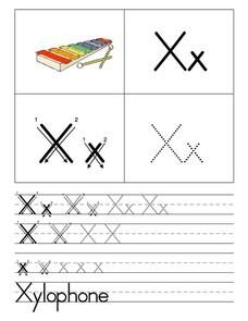Xx is for Xylophone Worksheet