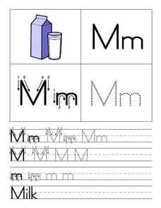 Alphabet Letter M Worksheet