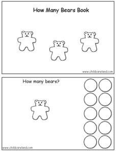 How Many Bears Book 1-10 Worksheet