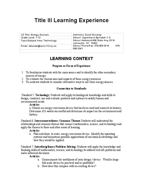 Computer Graphing Lesson Plan