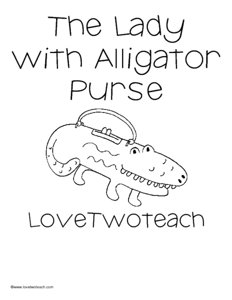 The Lady With The Alligator Purse Lesson Plan for 2nd