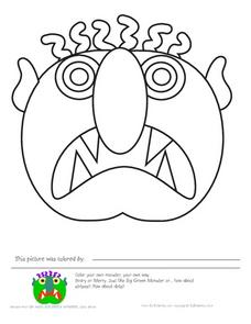 Color the Monsters Worksheet