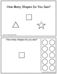 How Many Shapes Do You See? Worksheet