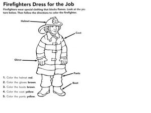 Firefighters Dress For the Job Worksheet