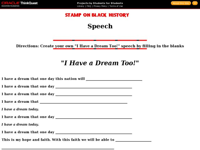 {I Have a Dream Too 5th 8th Grade Worksheet – I Have a Dream Too Worksheet