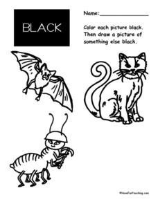 Color Black 2 Worksheet