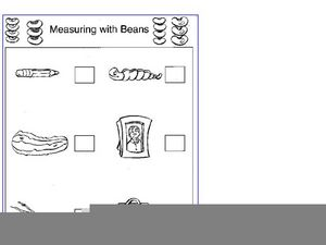 Measuring With Beans Worksheet