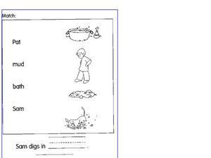 Words Pictures Matching Worksheet