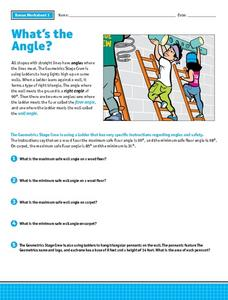 What's the Angle? Worksheet