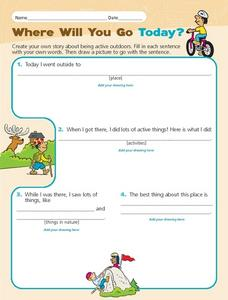 Where Will You Go Today? Worksheet