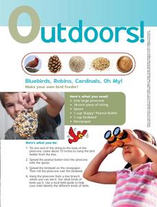 Outdoors! Make Your Own Bird Feeder Worksheet