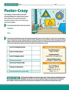Poster-Crazy Take Home Activity Worksheet