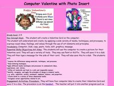 Computer Valentine with Photo Insert Lesson Plan